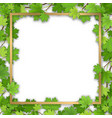 golden frame in maple foliage vector image vector image