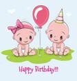greeting birthday card vector image vector image