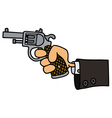 gun in a hand vector image