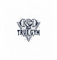 gym logo fitness logo vector image vector image