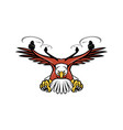 half eagle drone swooping mascot vector image vector image