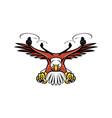 half eagle half drone swooping mascot vector image