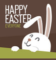 happy easter everyone easter bunny vector image vector image