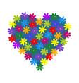 heart flowers vector image vector image