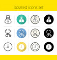 hospital icons set vector image vector image