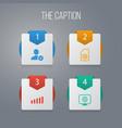icon web set of monitor sim card account and vector image