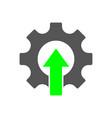 industrial revolution logo factory 40 iot vector image vector image
