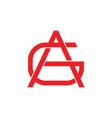 letter ag triangle linked line logo