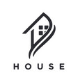 logo modern minimalist house vector image vector image
