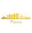 macau city skyline golden silhouette vector image vector image