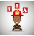 man fire helmet mask vector image vector image