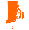 map of rhode island vector image vector image