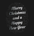 merry christmas and a happy new year hand drawn vector image vector image