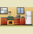 modern interior kitchen vector image vector image