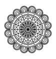 monochrome flower mandala vintage decorative vector image vector image
