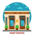 National post office for mail services vector image vector image
