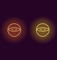 neon ninja glowing assassin game icon vector image vector image