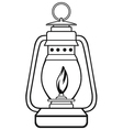 Old dusty oil lamp vector image vector image