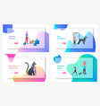 owners use gps control trackers on pets landing vector image vector image