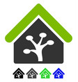 plant glasshouse flat icon vector image vector image