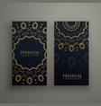 premium mandala decoration banners or card design vector image vector image