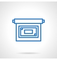 Projector screen icon simple line style vector image vector image