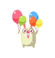 Rabbit Party Animal Icon vector image vector image