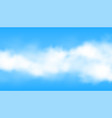 realistic cloud or smoke background vector image