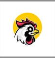 rooster doodle cartoon chicken head vector image vector image