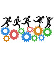 running on gears vector image