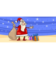 Santa Claus with presents cartoon card vector image vector image