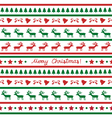 Seamless Christmas background24 vector image vector image