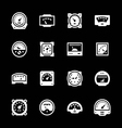 Set icons of meter vector image vector image
