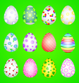 Set of eggs vector image