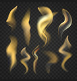 set transparent realistic fire flames vector image