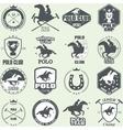 set vintage horse polo club labels vector image vector image