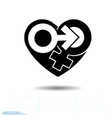 signs gender icon of the heart a symbol of vector image vector image