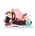 sneaker factory concept for web banner vector image