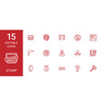 stamp icons vector image vector image