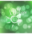 Stock blurred texture with bokeh effect and sun vector image