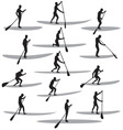 sup silhouettes vector image vector image