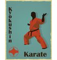 The old image of the man of the engaged karate vector image vector image