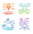 travel and transportation concepts vector image