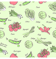 vegetables seamless2 vector image vector image