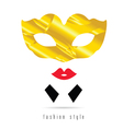 venice mask gold fashion style vector image
