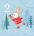 winter with cute animal vector image vector image