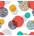 zebra and leopard seamless geometric pattern vector image vector image