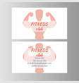 fitness club business card vector image