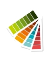 Pantone colors isolated flat design vector image