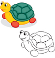Turtle toy vector image